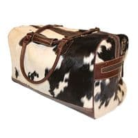 Cow Skin Holdall Travel bag in Brown or Black